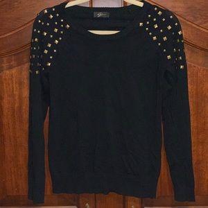 Tops - Black with studded shoulder